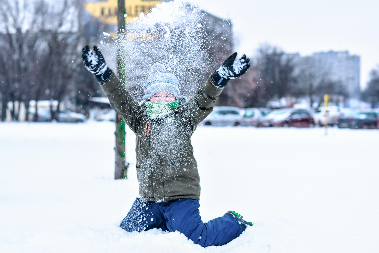 radość ze śniegu..