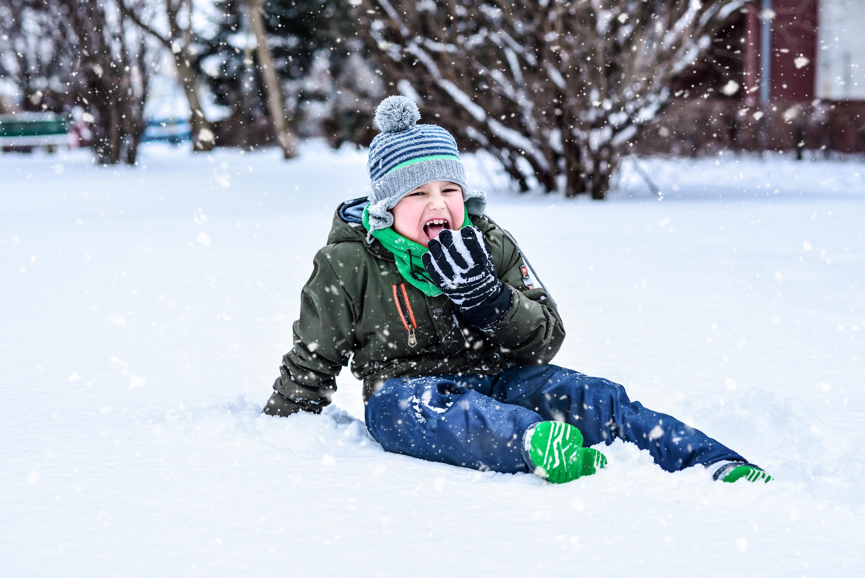 i siadania na śniegu...